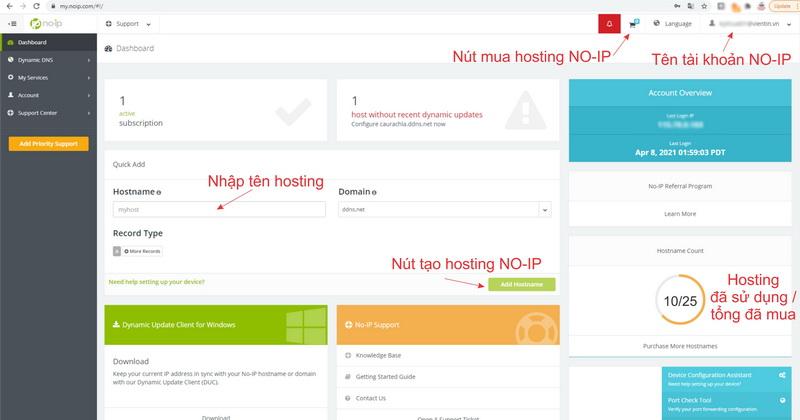 Hướng dẫn mua Hosting NO-IP bằng dịch vụ PayPal