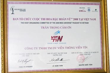 Cty Viễn Tín tài trợ cuộc thi hoa hậu Hoàn Vũ 2008