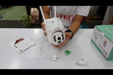 Camera J Tech mini speed dome IP Wifi HD6715B Smart Light